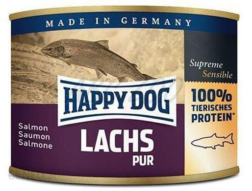 6x Happy Dog Lachs Puszka 100% Łosoś 200g