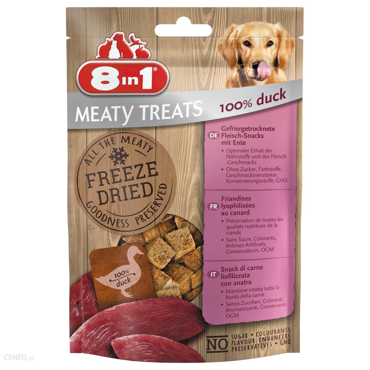 8In1 Meaty Treats Freeze Dried Kaczka 50G