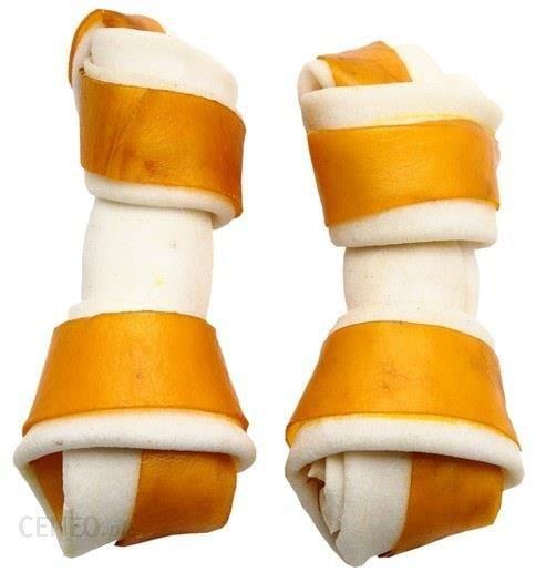 Adbi Kości wiązane biało-żółte jagnięcina 10cm 10szt