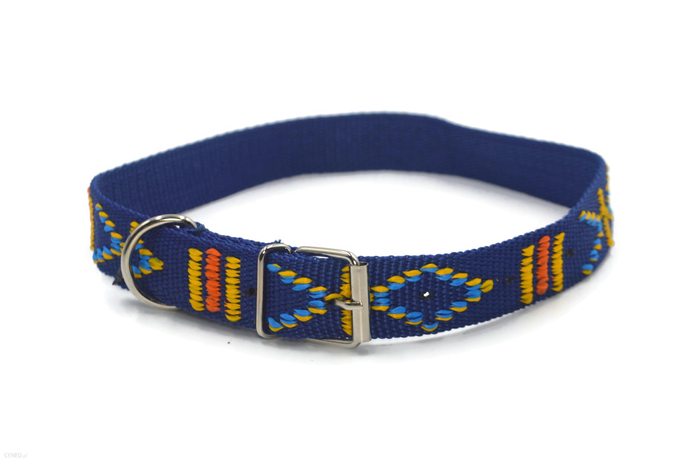Alizoo Indiańska Obroża Dla Dużego Psa 25Mm Niebieski