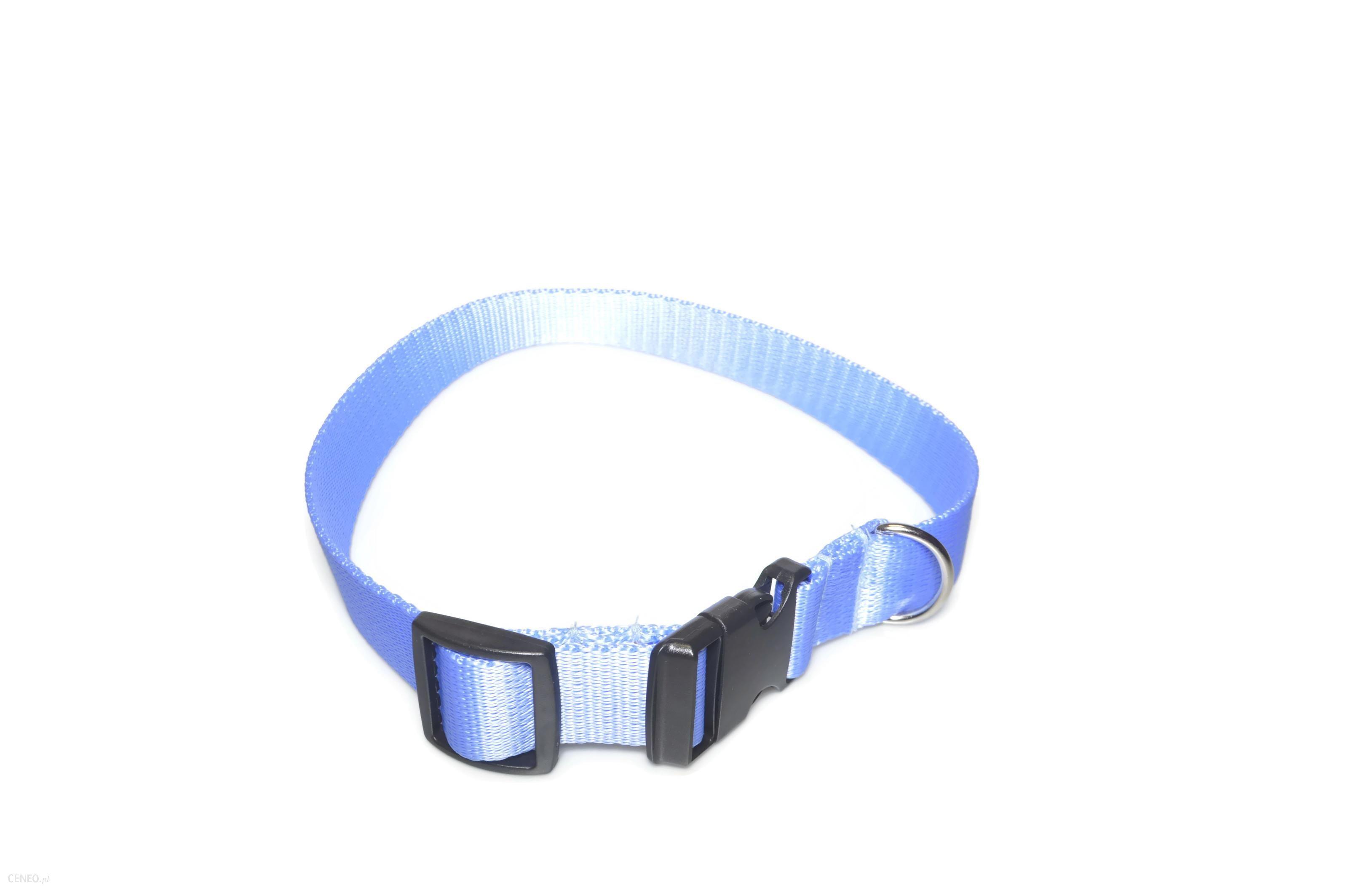 Alizoo Obroża dla dużego psa 25mm/34-55cm - (A005) Błękitny