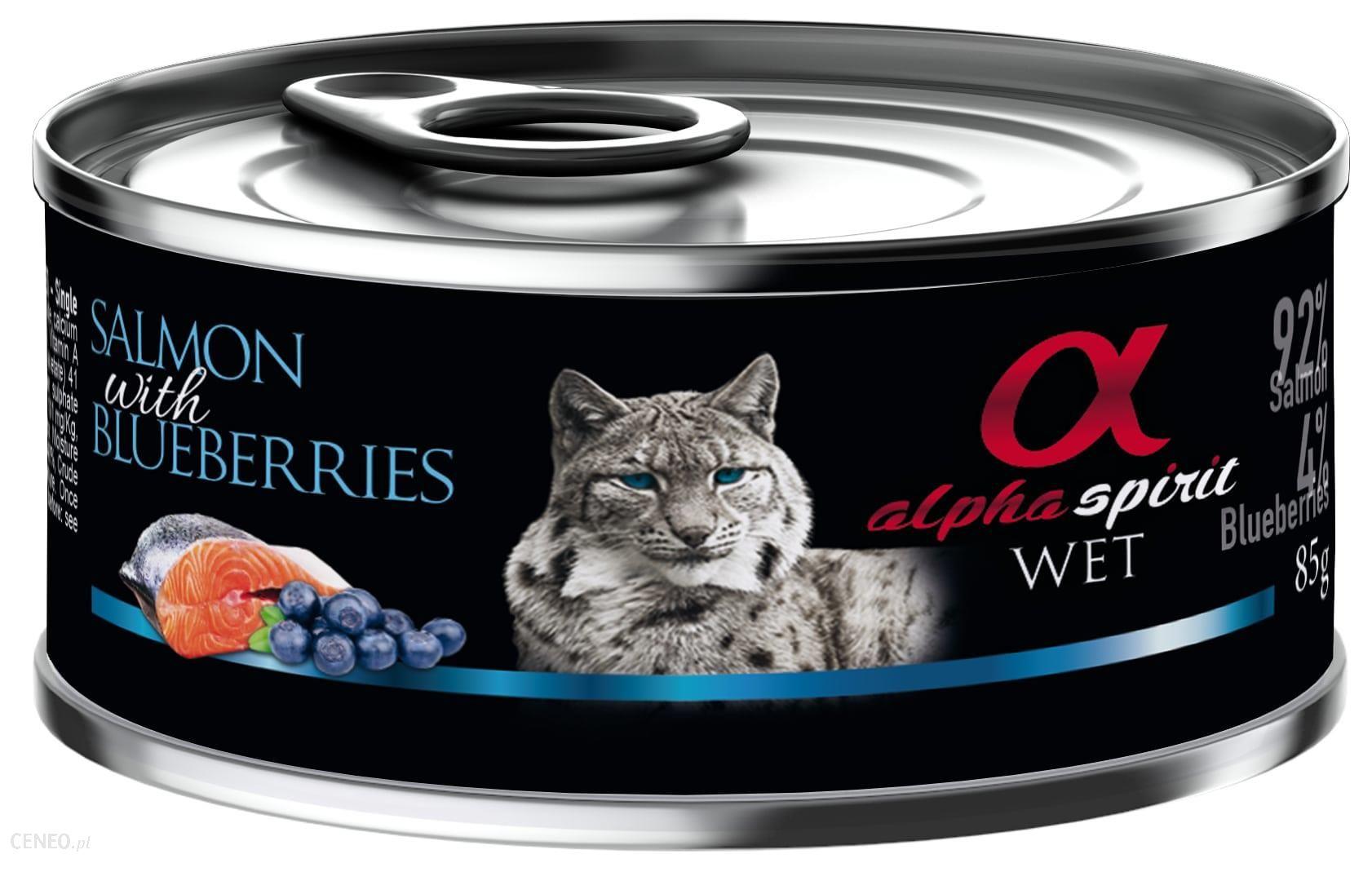 Alpha Spirit Adult All Breed Salmon & Blueberries 85g