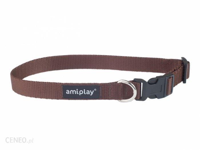 Amiplay Obroża Basic L 35-50 2Cm Brązowa