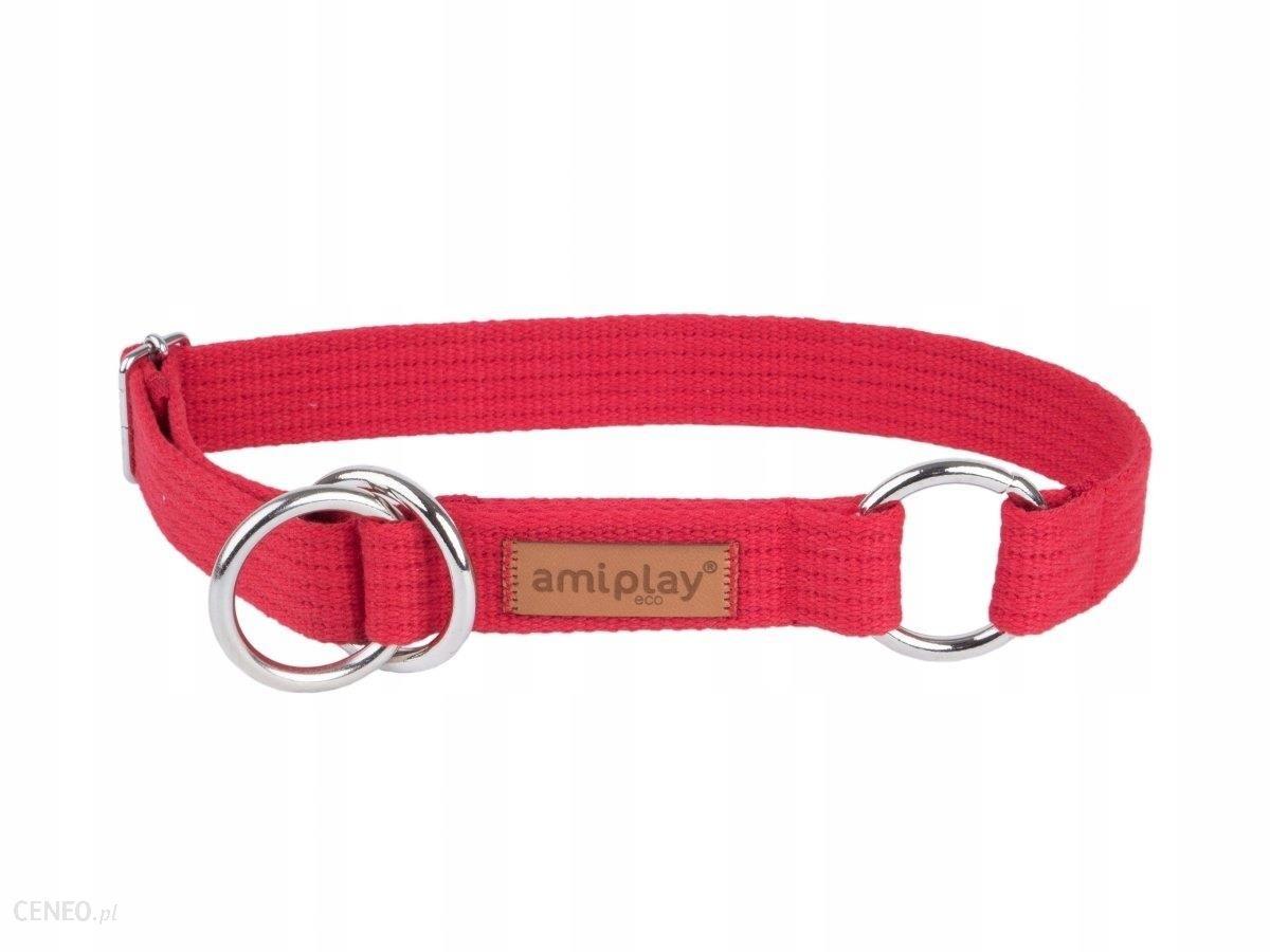 Amiplay Obroża półzaciskowa Cotton M czerwony 35-5