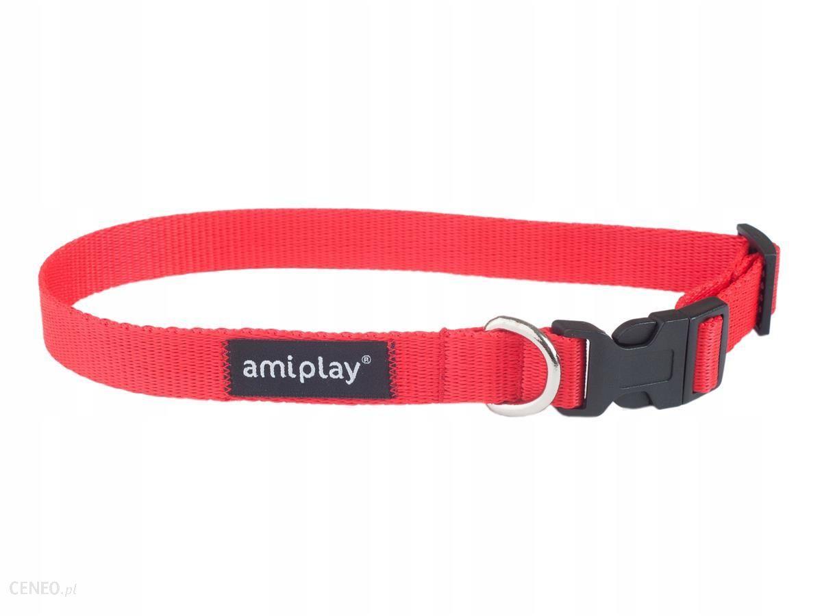 Amiplay Obroża regulowana Basic L czerwona