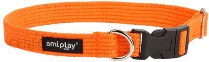 AmiPlay Obroża regulowana Cotton XL 45-70 bx3cm Pomarańczowy