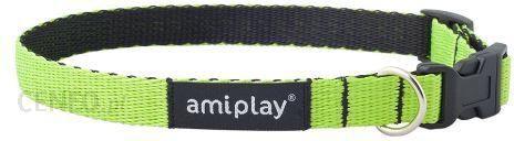 AmiPlay Obroża regulowana Twist S 20-35x1cm Zielony