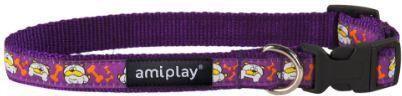 AmiPlay Obroża regulowana Wink S 20-35 bx1cm Fioletowy