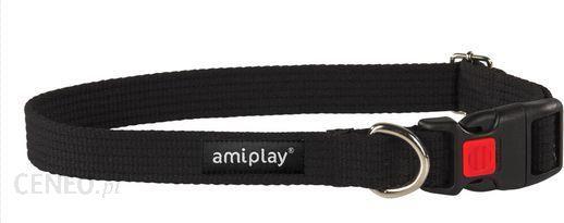 AmiPlay Obroża regulowana z blokadą Cotton M 35-50 bx2cm Czarny