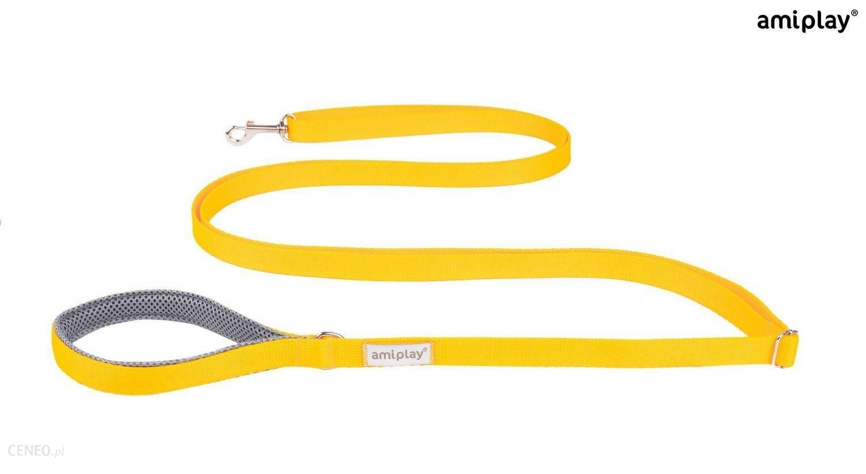 Amiplay Smycz Samba Easy Fix M 160-300Cm 2Cm Żółty