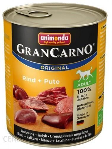 Animonda GranCarno Adult Rind Pute Wołowina + Indyk 800g