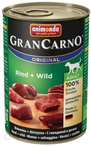 Animonda GranCarno Adult Rind Wild Wołowina Dziczyzna 400g