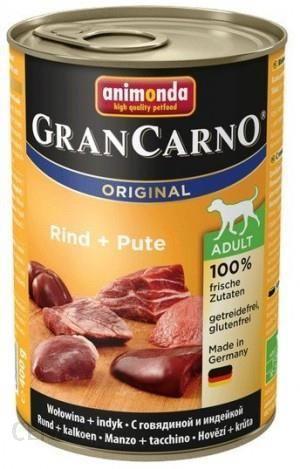 Animonda Grancarno Adult Wołowina I Indyk 24X400G