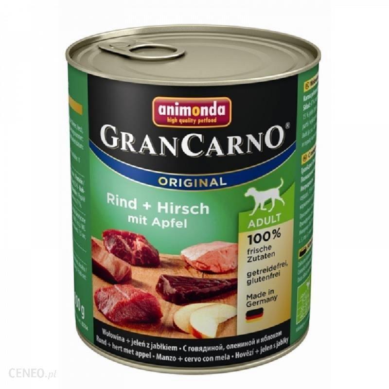 animonda Grancarno Adult wołowina + jeleń i jabłko 24x800g