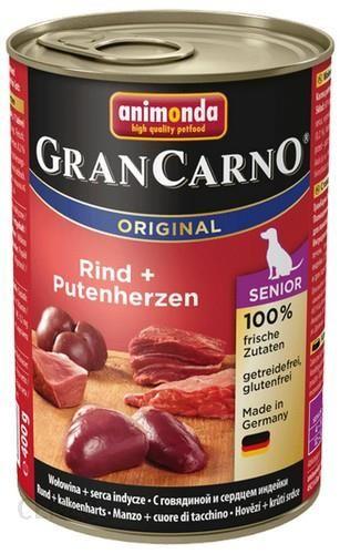 ANIMONDA GRANCARNO Senior wołowina i serca indyka 6x400g