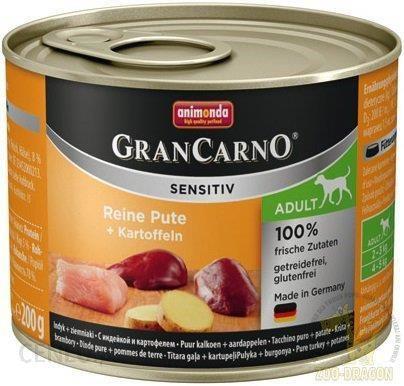 Animonda GranCarno Sensitiv indyk z ziemniakami 200g