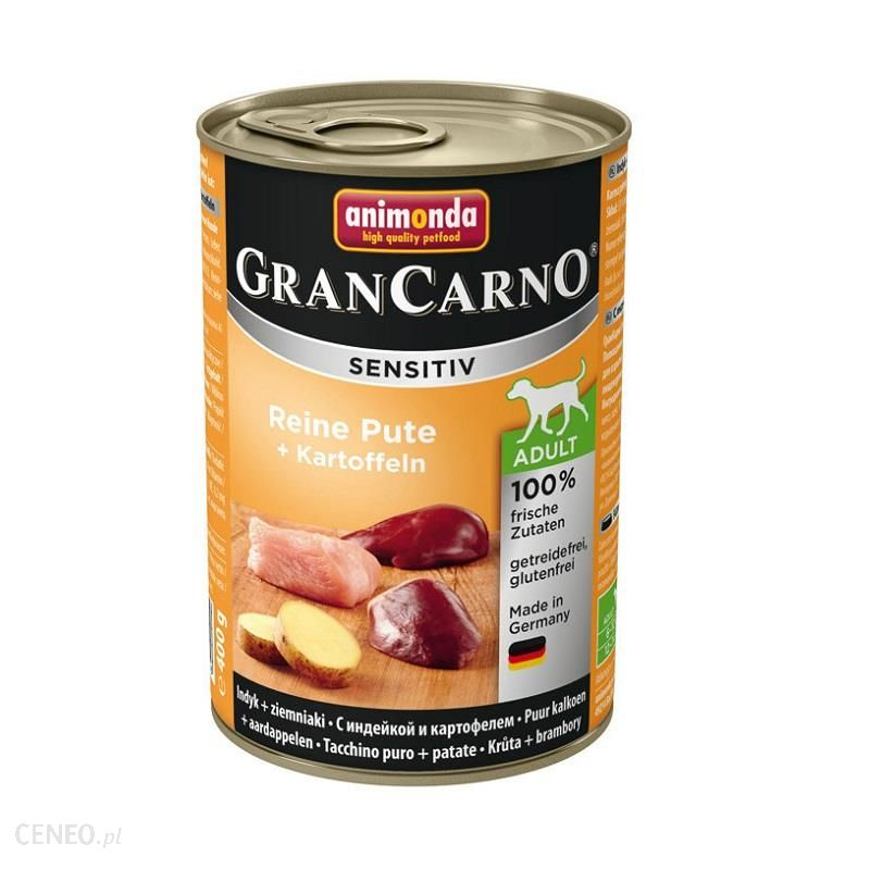 animonda Grancarno Sensitiv indyk z ziemniakami 24x400g
