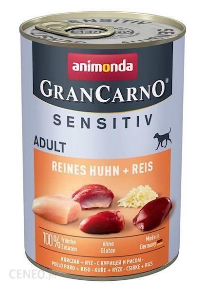 Animonda Grancarno Sensitive Adult Puszki Czysty Kurczak Z Ryżem 400G