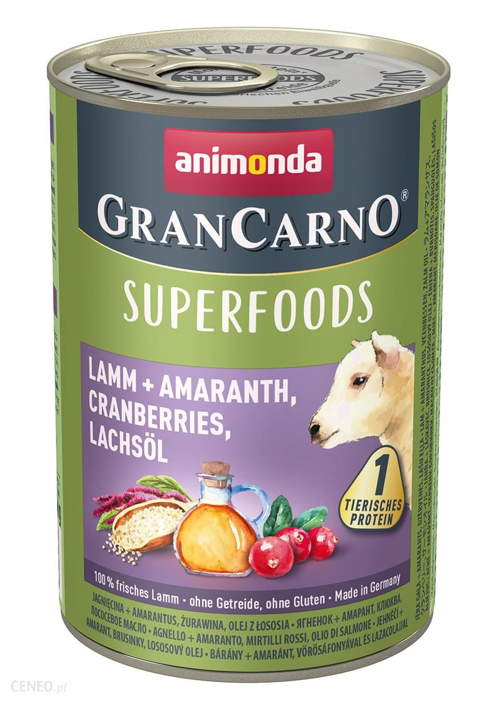 Animonda Grancarno Superfoods 6x400G JaGnięcina Szarłat Żurawina Olej Z Łososia