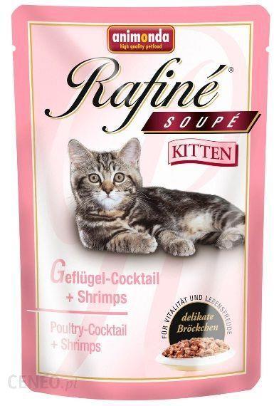 Animonda Rafine Soupe Kitten Drób Z Krewetkami 100g