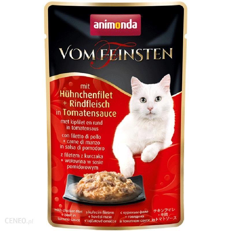 ANIMONDA Vom Feinsten Classic Cat filet z kurczaka wołowina w sosie pomidorowym 6x50g
