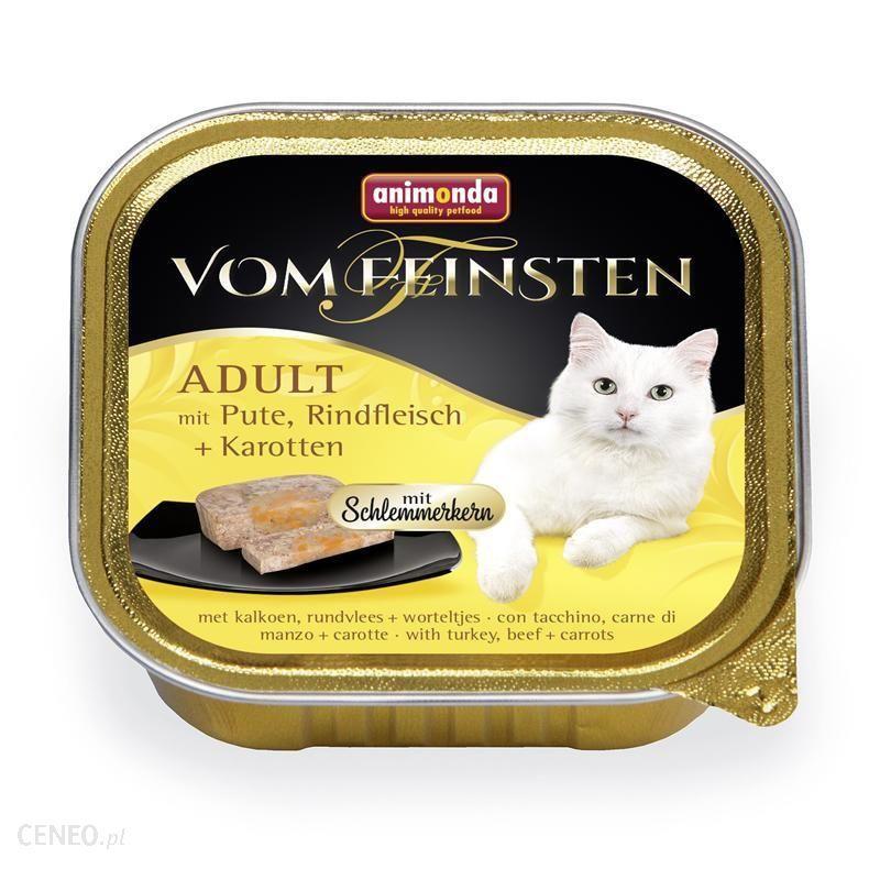 ANIMONDA Vom Feinsten Classic Cat indyk wołowina marchewka 32x100g