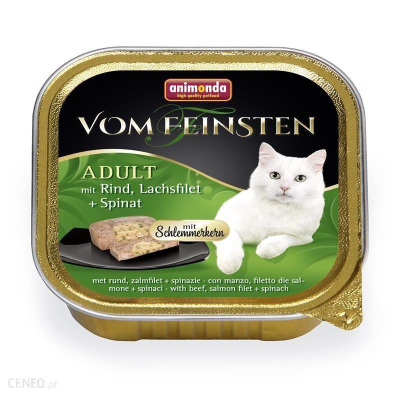 ANIMONDA Vom Feinsten Classic Cat wołowina łosoś szpinak 6x100g