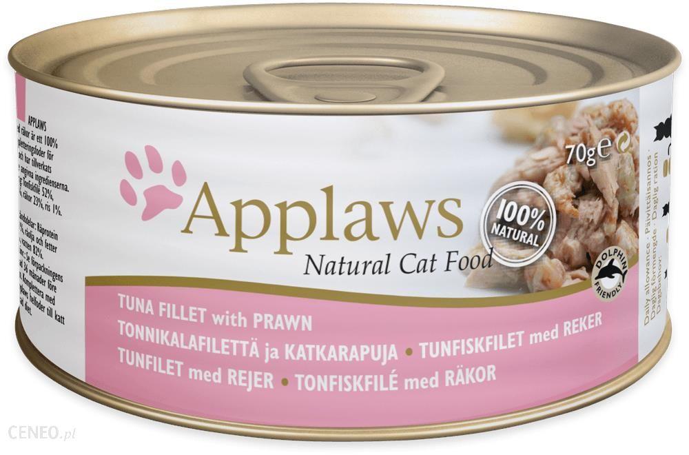 Applaws Natural Cat Food Filet z tuńczyka z krewetkami 156g