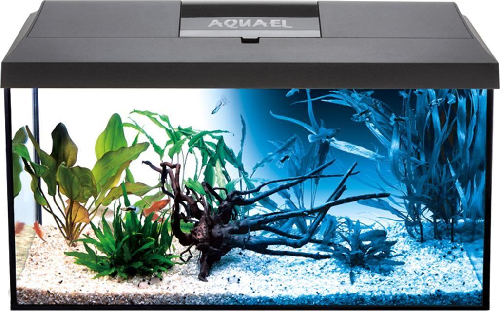 Aquael Leddy Day&Night 60 Akwarium Z Wyposażeniem 54L Czarne