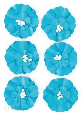 ARGO Kwiaty samoprzylepne papierowe CYNIA 6szt. niebieski