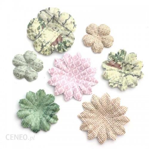 ARGO Kwiaty samoprzylepne papierowe PŁATKI 24szt. mix pastelowy