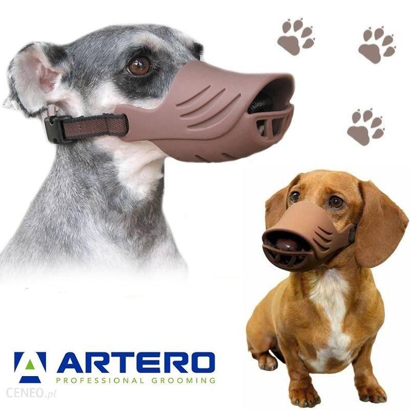 Artero Silicone Muzzle Cover Brown Wygodny Regulowany Silikonowy Kaganiec Dla Psa Brązowy M