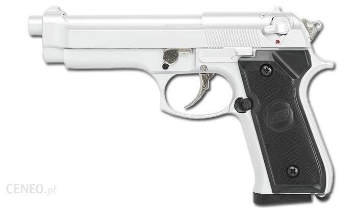ASG Replika pistoletu M92F Hi Power Srebrny 11557 Srebrny