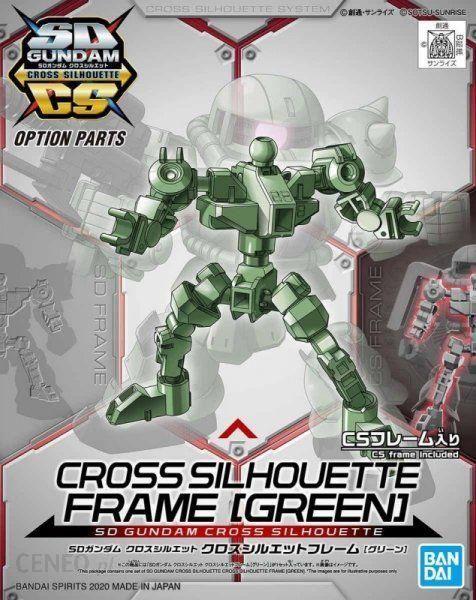 Bandai Figurka Kolekcjonerska Sd Gundam Cross Silhouette Frame [Green]