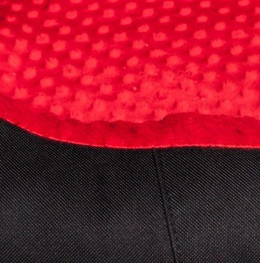 Bimbay Pokrowiec do kanapy Minky r.4 125x90cm czarny czerwony