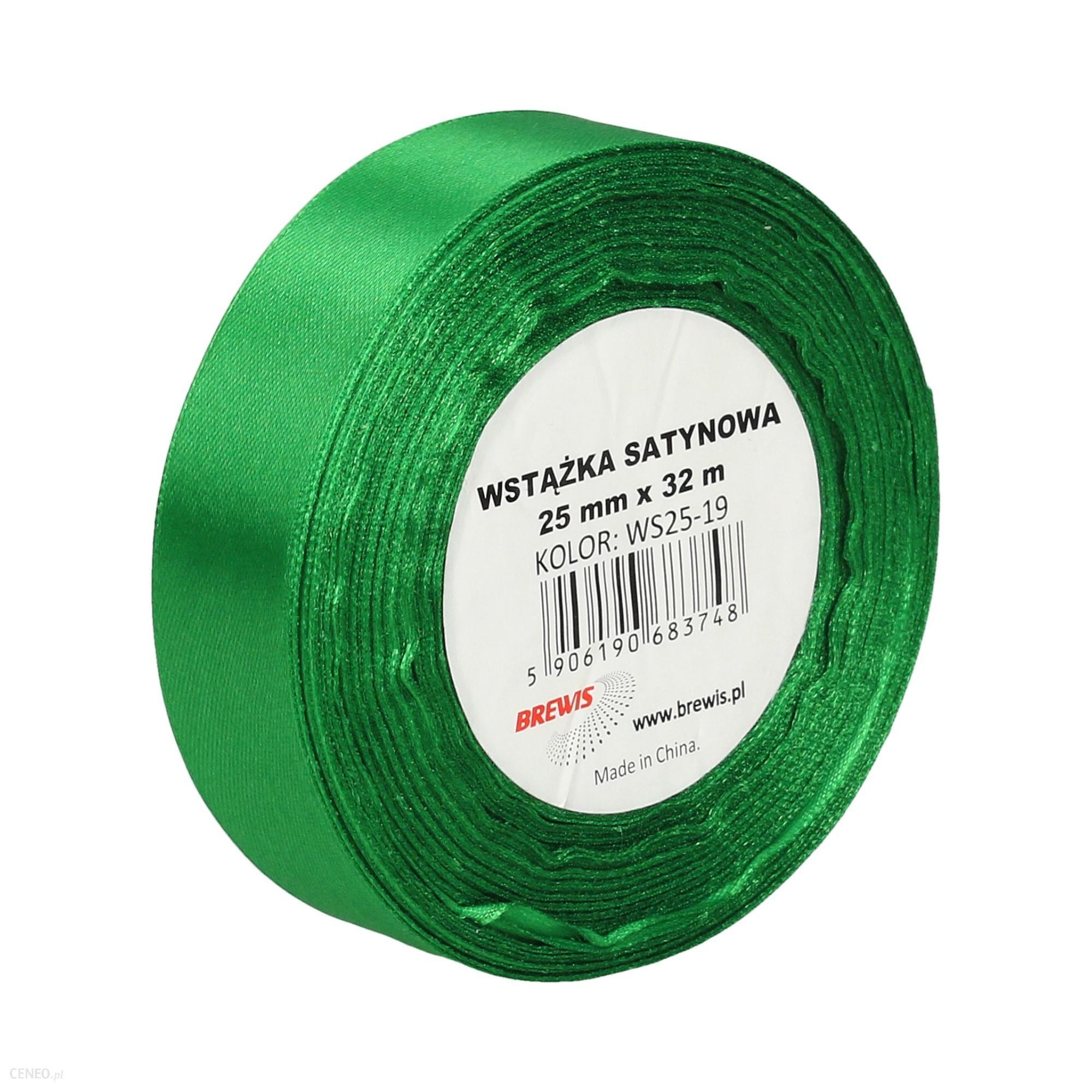 Brewis Wstążka Dekoracyjna Satynowa 25Mmx32M Zielona 19 (Vb8516)