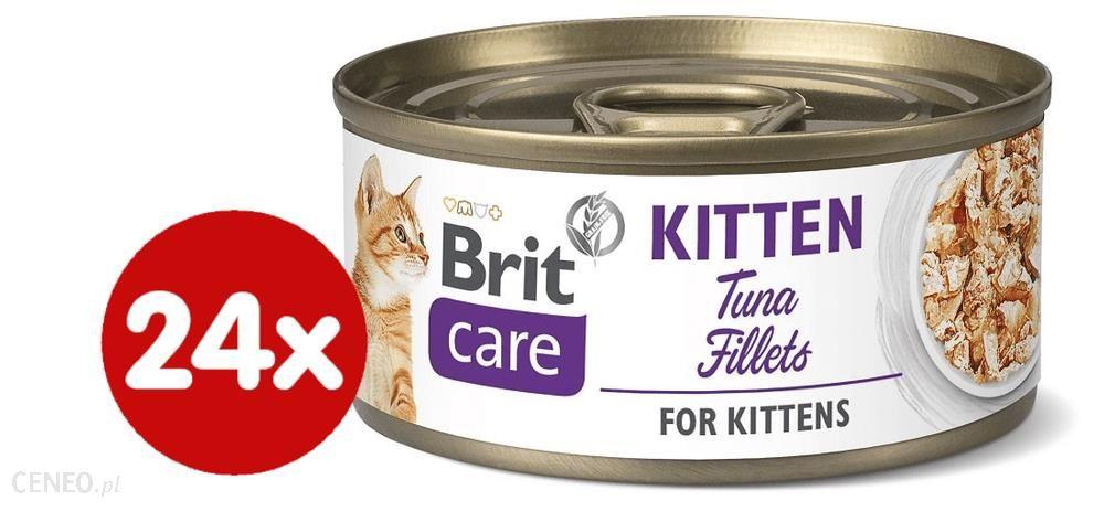 Brit Care Cat Kitten Tuna Fillets Filety Z Tuńczyka Dla Kociąt 24X70G