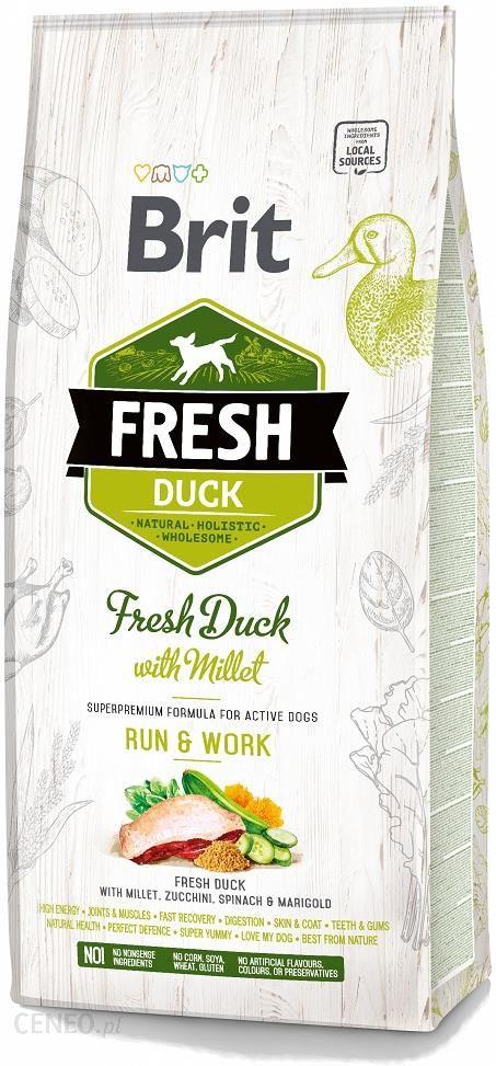 Brit Fresh Run&Work Active Adult Fresh Duck with Millet 2x12kg