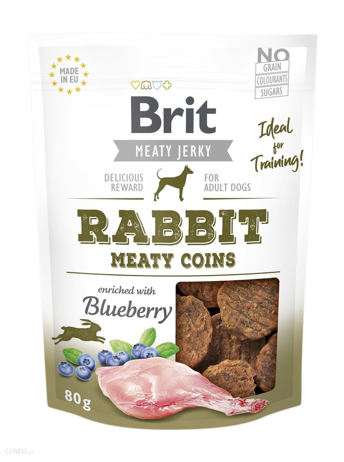 Brit Jerky Snack Rabbit Meaty Coins Królik 80G