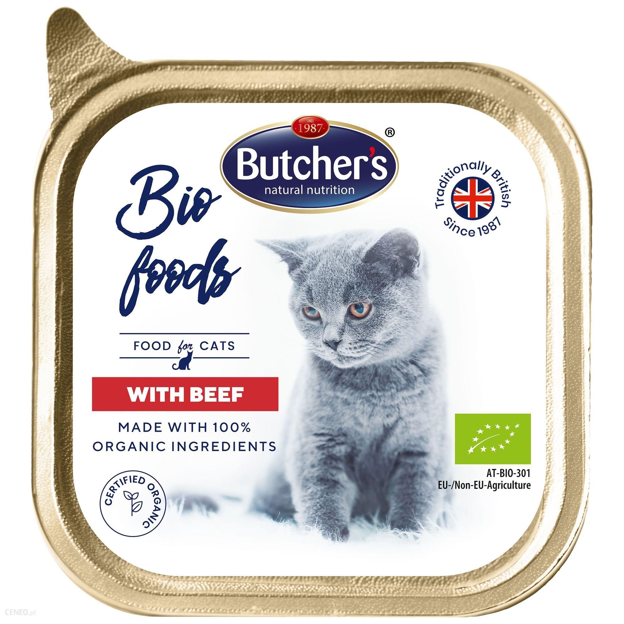 Butcher's Bio Foods Cat z wołowiną pasztet 8x85g