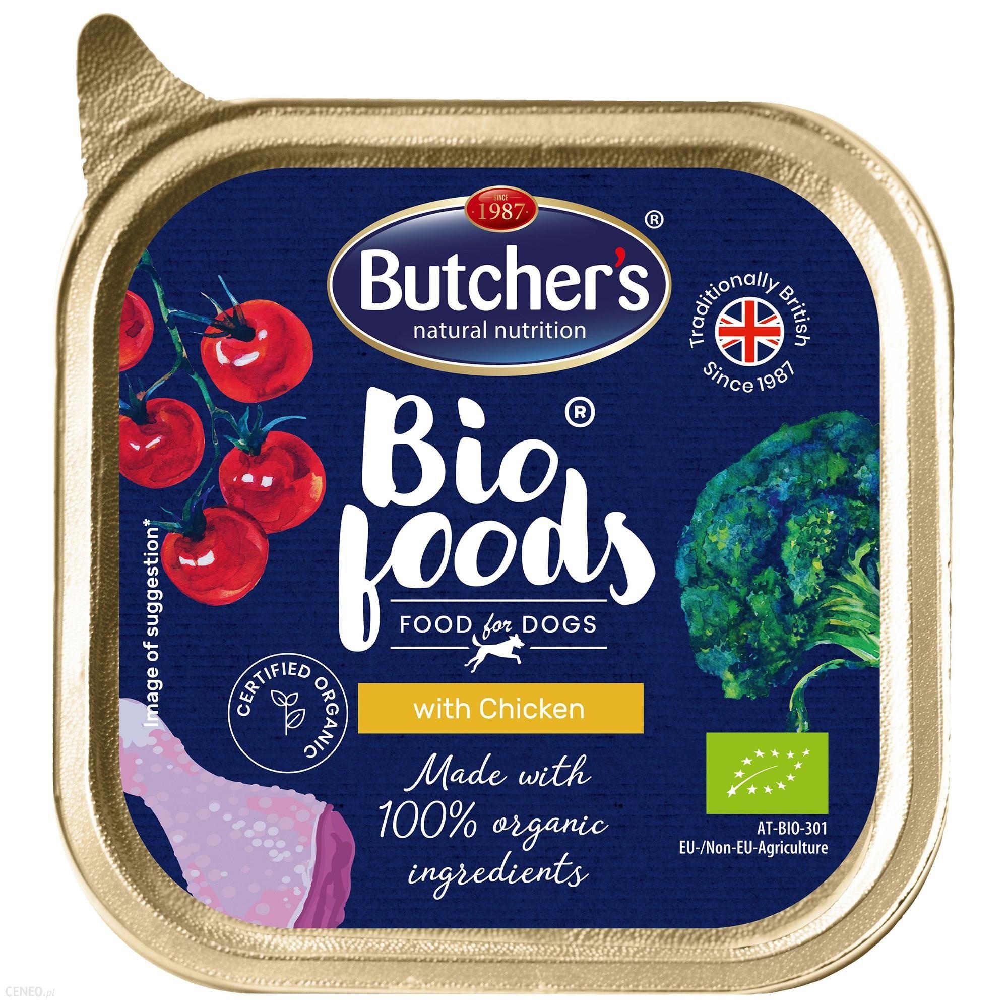 Butcher's Bio Foods Dog z kurczakiem pasztet 11x150g