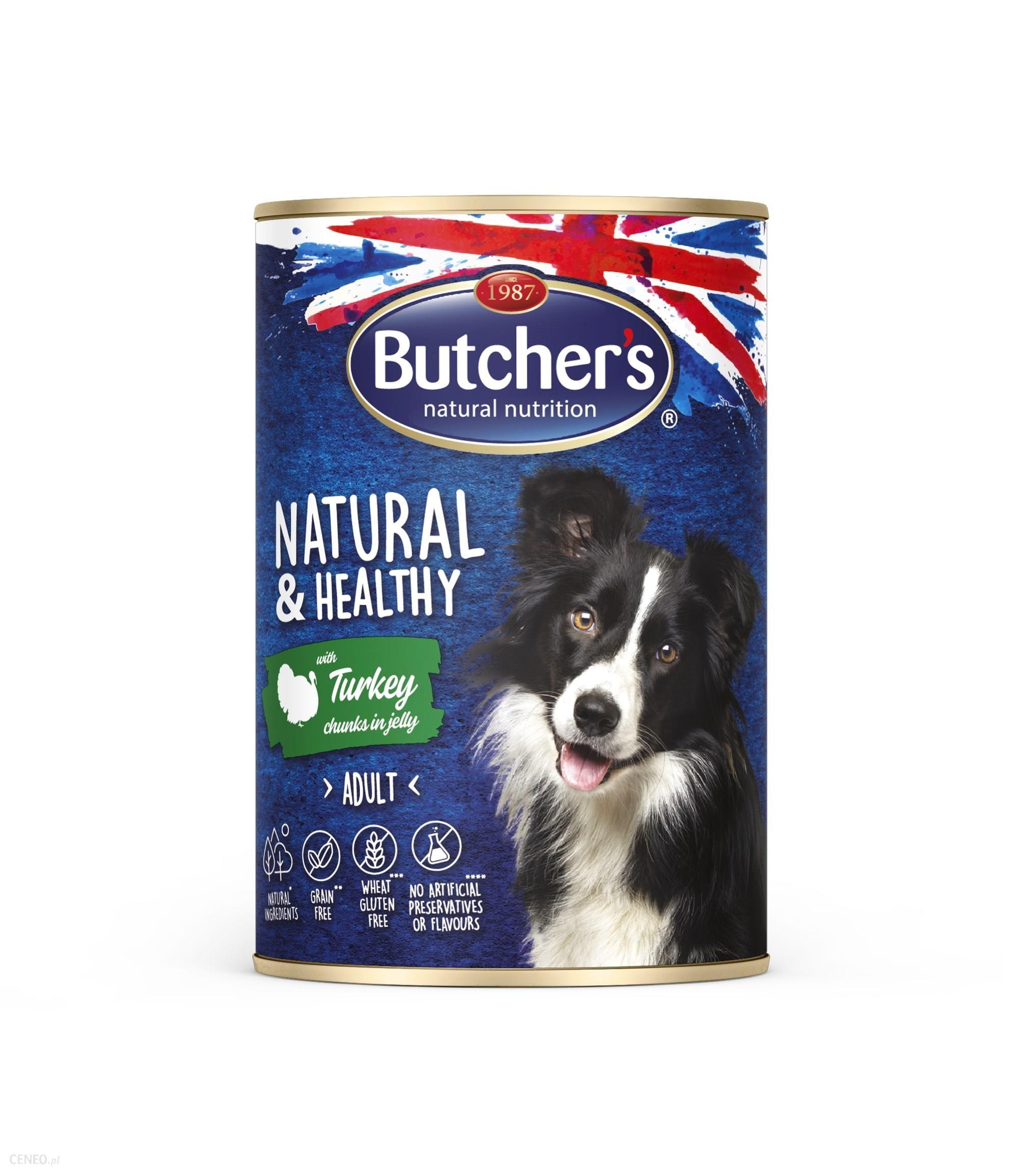 Butcher's Natural&Healthy Dog z indykiem kawałki w galarecie 10x400g