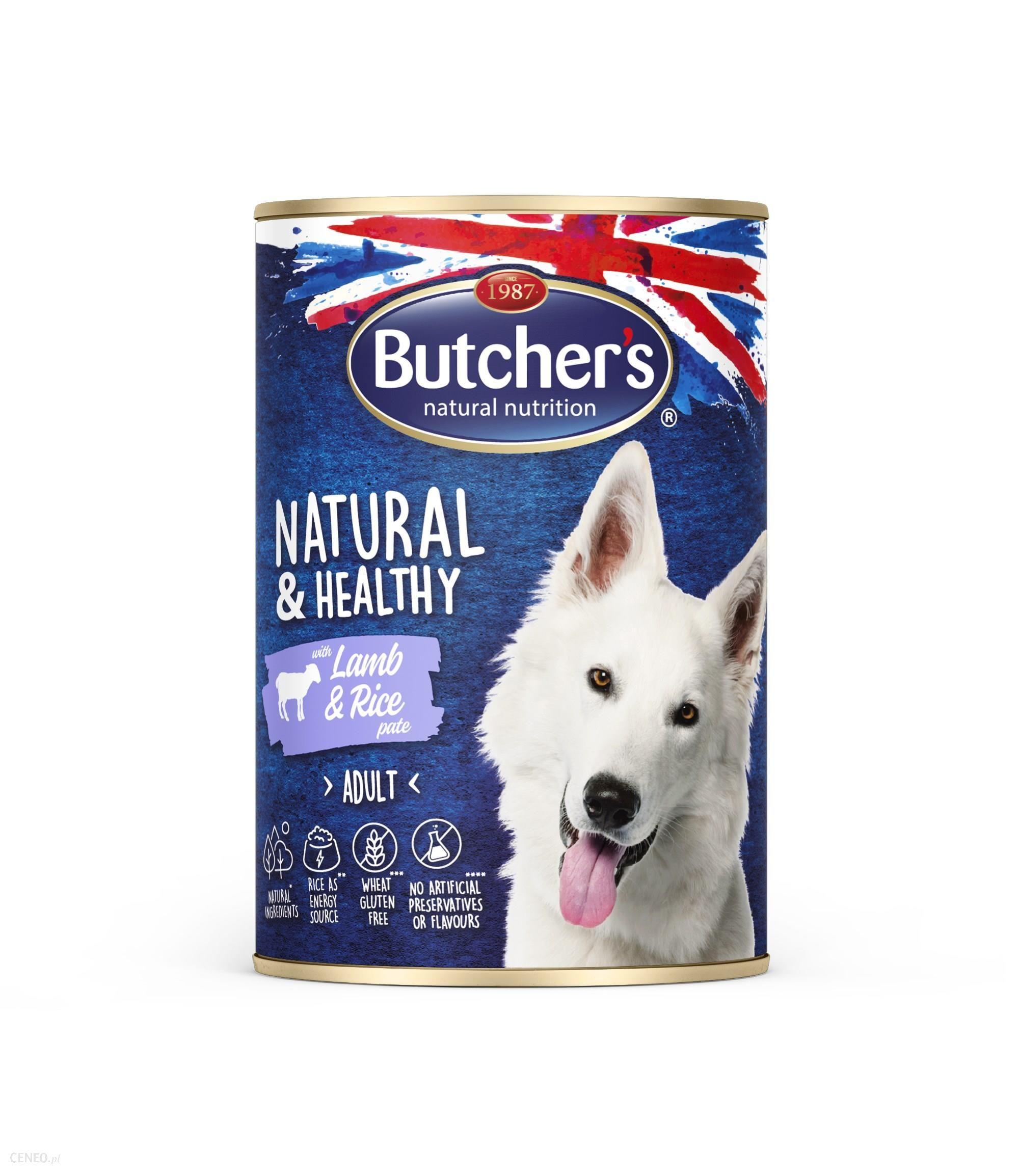 Butcher's Natural&Healthy Dog z jagnięciną i ryżem pasztet 6x390g