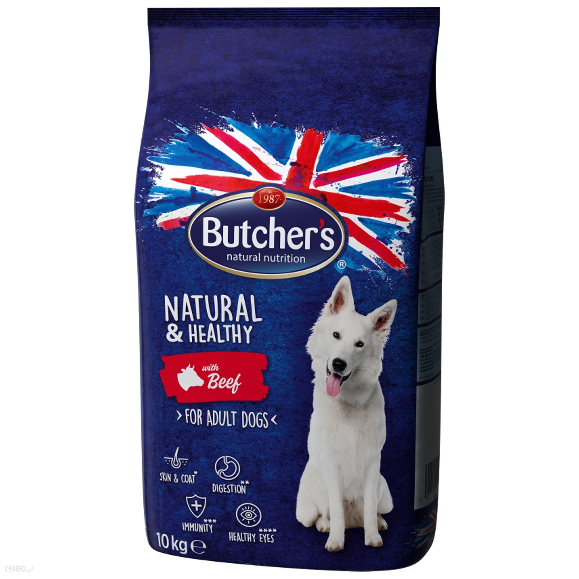 Butcher's Natural&Healthy Dog z wołowiną 2x10kg