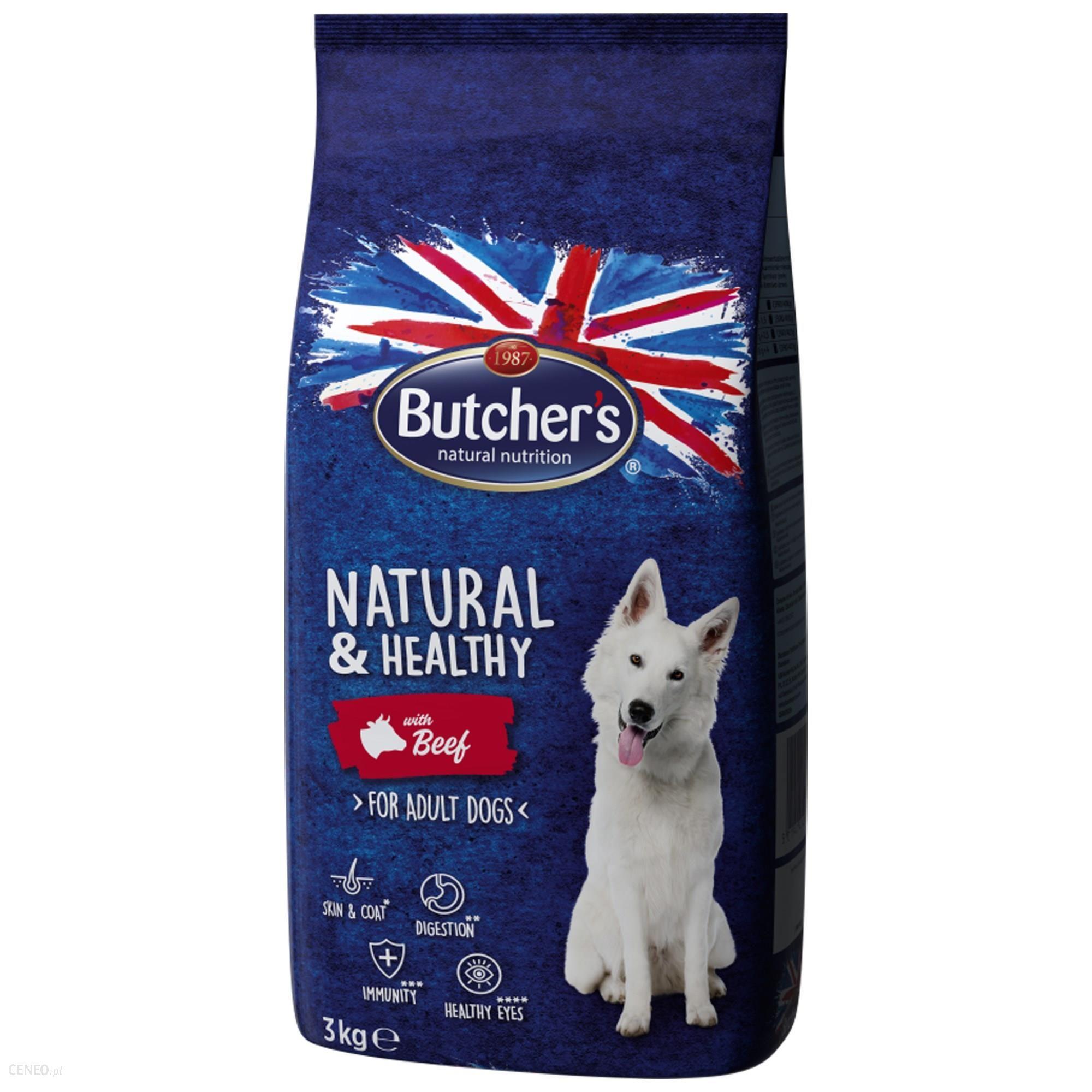 Butcher's Natural&Healthy Dog z wołowiną 3kg