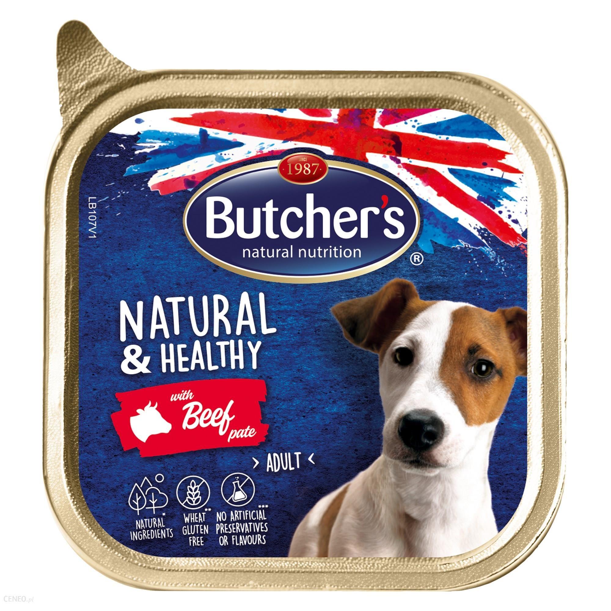 Butcher's Natural&Healthy Dog z wołowiną pasztet 6x150g