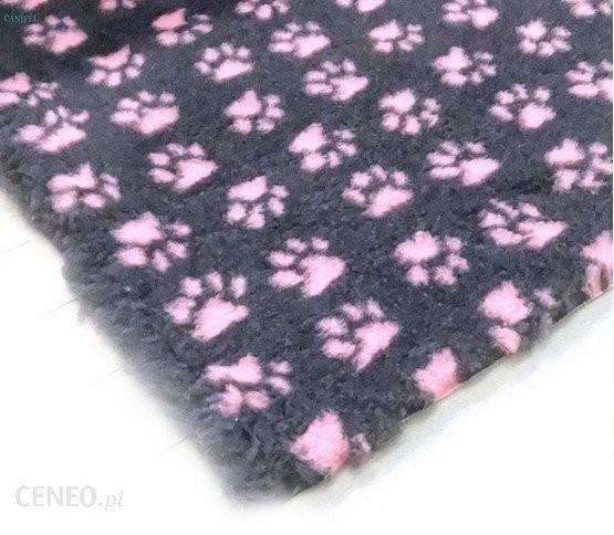 Canifel Drybed Posłanie Small Paw Ch/Pk Grafit-Róż 75x50cm