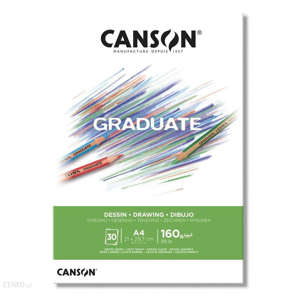 Canson Blok Rysunkowy A4 160G 30K Graduate
