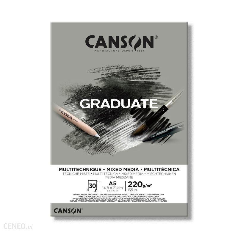 Canson Blok Szkic.Mixmedia A5 Graduate 220G 20K Szary