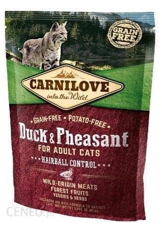 Carnilove Cat Duck & Pheasant Hairball Control Kaczka I Bażant 400G